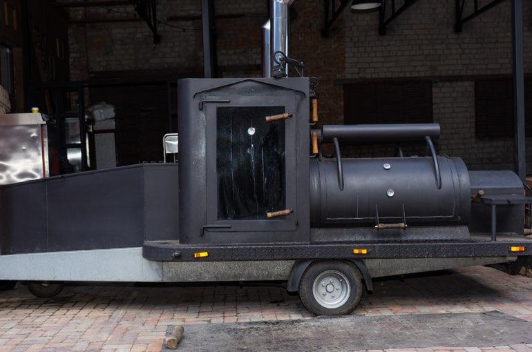 BBQ Smoker Trailer Anhanger