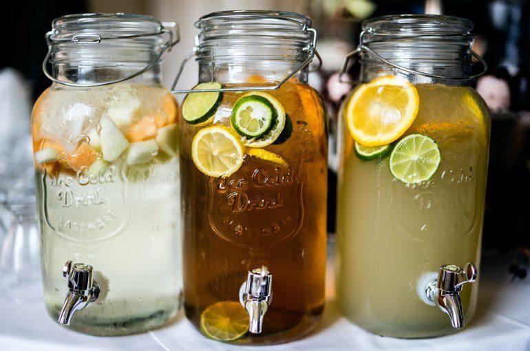 frische säfte glas