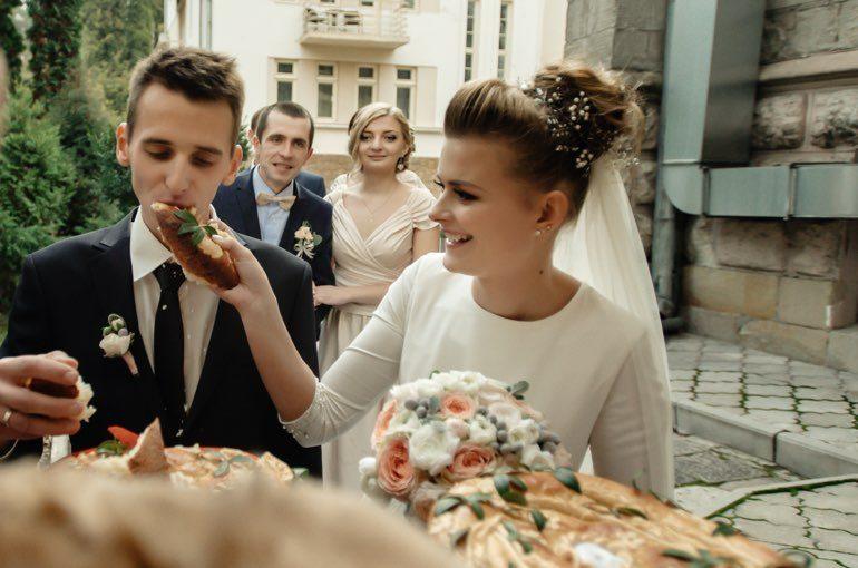 Ehepaar Snacks Hochzeit