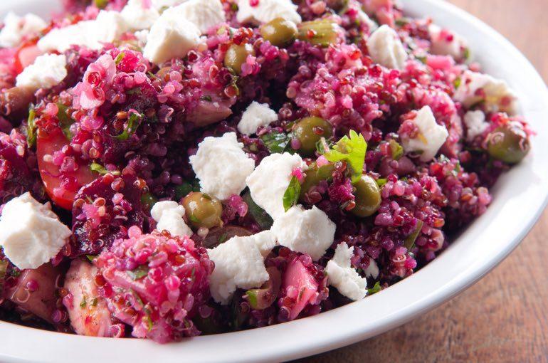 Quinoa Rotkohl Salat Catering